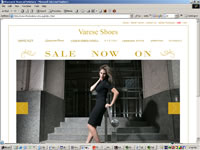 Varese Shoes Website