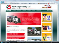 Kel Campbell Fuel Haulage Website